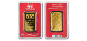 Republic Metals 1oz. Gold Bar